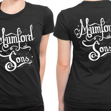 VONEED6 Mumford And Sons Title Typography Fan Art 2 Sided Womens T Shirt