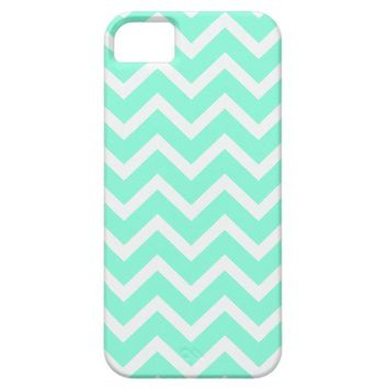 Chevron Pattern iPhone 5 Case tiffany blue from Zazzle.com