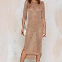 Everything is Turning to Gold Knit Dress