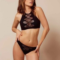 Sexy Mesh Hollow Split Swimwear