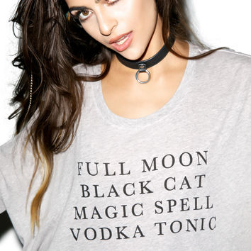 WILDFOX Halloween List Sunny Morning Tee LIGHT GRAY