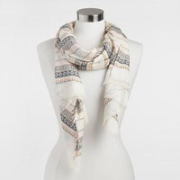 Pink and White Stripe Scarf