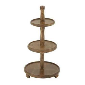 Striking Wood 3 Tier Tray