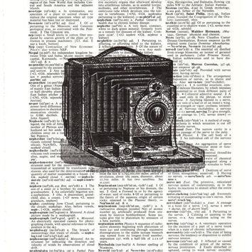 Old Fashioned Camera Dictionary Art Print