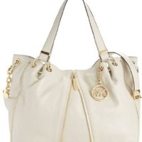 Amazon.com: MICHAEL Michael Kors Newman Large Shoulder Tote (Vanilla): Clothing