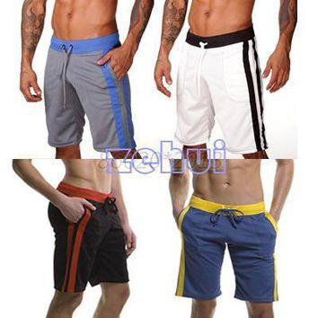Men workout fitness bodybuilding Soft Short Loose board shorts Polyster Beach Short M/L/XL