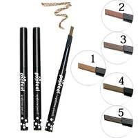 1PC Professional Eye Brow Shaping Kit Waterproof Natural Brown Black Eye Tint Eyebrow Pencil Makeup