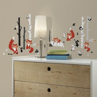Fox Forest Wall Decals (Red)