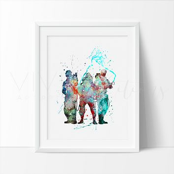 Ghost Busters Watercolor Art Print