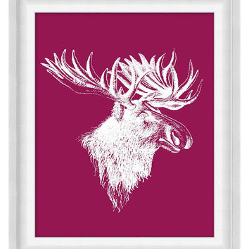 Printable Poster: Moose - Vertical 8x10 - Digital Wall Art - Printable Art