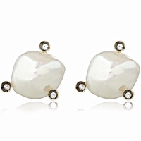 Annoushka Gold and Sapphire Frost Pearl Stud Earrings | Accessories | Liberty.co.uk