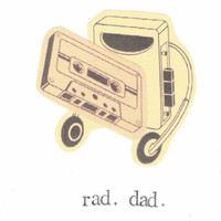 Rad Dad Father's Day Card Funny Retro Vintage Music Cassette Tape Cool Hipster Weird Rock Musician Birthday 80's Geekery