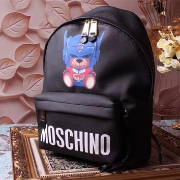 Moschino Teddy Beer Leather Backpack Bag #42351 - Best Deal Online