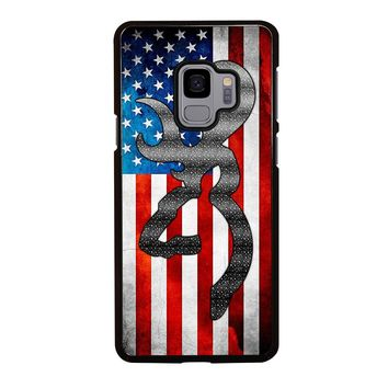 BROWNING CAMO AMERICAN FLAG Samsung Galaxy S3 S4 S5 S6 S7 S8 S9 Edge Plus Note 3 4 5 8 Case
