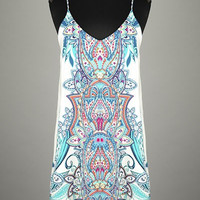 Bohemian Tribal Jade Tank Dress