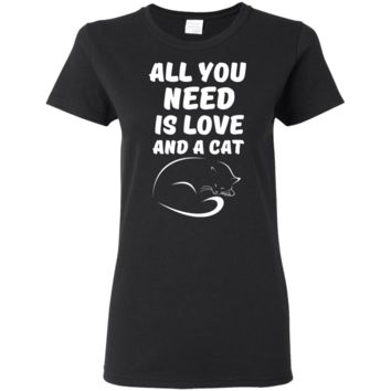 Cat Love Ladies  T-Shirt