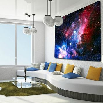 Space Galaxy Fabric Wall Tapestry