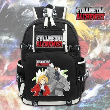 Anime Backpack School kawaii cute Fullmetal Alchemist Backpack Knapsack Packsack Travel School Otaku Bags AT_60_4