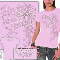 Ladies Fire Angel Pink T-Shirt