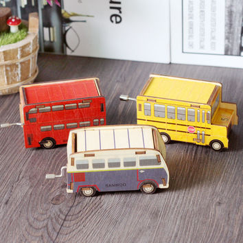 Wooden Creative Tools Music Cars Crafts Decoration Box [6282801286]
