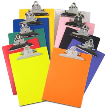 Saunders Recycled Plastic Clipboard – Letter/A4 Size – High Capacity Clip