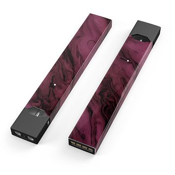 Skin Decal Kit for the Pax JUUL - Black & Pink Marble Swirl V1