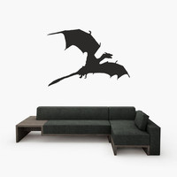 Fiction art inspired by Game of Thrones Dragon shadow vinyl wall decal PLUS TWO Dragon shadow laptop decals