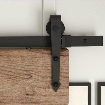 American Arrow Style Black Rustic Sliding Barn Door Hardware Sliding Track-Many Size For Selection