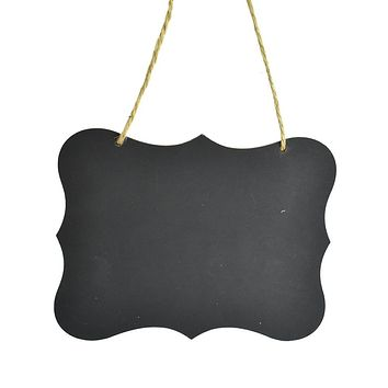 Hanging Scalloped Edge Chalkboard Sign, 8-1/4-Inch