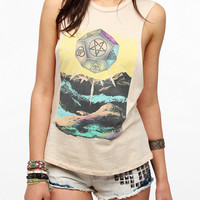 Urban Outfitters - Corner Shop Black Mountain Mystical Muscle Tee