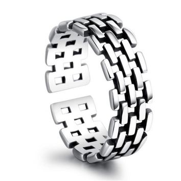 Brick Dance Tail Black Plated Rings