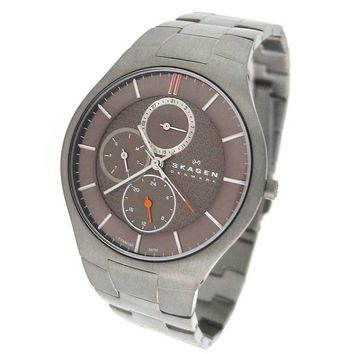 Skagen 806XLTXM Men's Denmark Grey Dial Titanium Quartz Watch