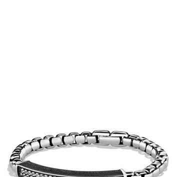 Men's David Yurman Pave ID Bracelet with Gray Sapphires