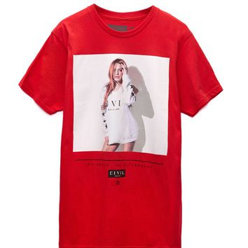 Civil - Lindsay Lohan L6 T-Shirt - Mens Tee - Red