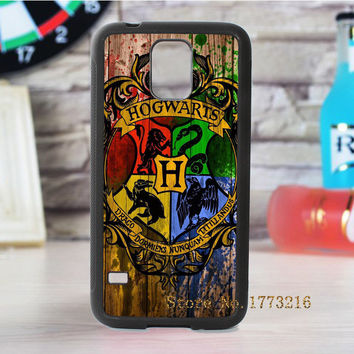 Hogwarts logo Harry Potter fashion cover case for samsung galaxy s3 s4 s5 s6 s7 s6 edge s7 edge note 3 note 4 note 5