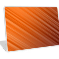 Orange Diagonal Abstract Stripe Pattern by TigerLynx