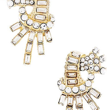 Gatsby Collection Crystal Burst Earrings