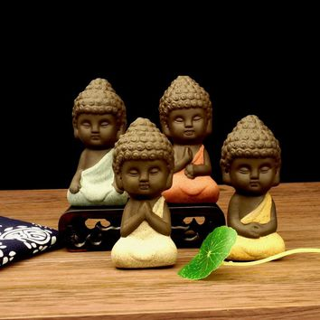 New!! Small Buddha statue monk figurine.