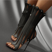 Women Pumps Sandals Sexy Open Toe Trend Cool Boots High-Heeled Shoes Size Senior Custom Apato Femininos Mujer Summer