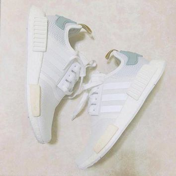 VLX85E Beauty Ticks 2017 Adidas Nmd Fashion Women Leisure Running Sports Shoes Mesh Blackgolden Logo Sole