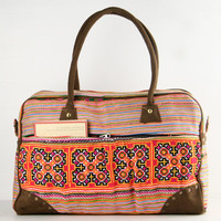 Vintage Traditional Weekender Bag/ Overnight Tote/ Duffle Bag/ Vacation Bag/ College Bag/ Suitcase/ Tribal, Bohemian Style