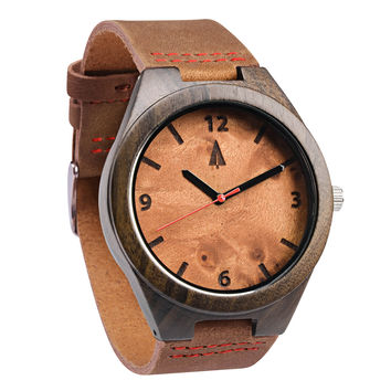 Ebony Watch // Maple Burl Brown