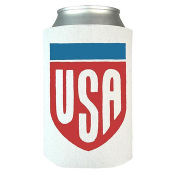 USA Badge Can Wrap, Can Wrap, Beer, Can Cooler, Beer Holder, Can Holder, Beer Wrap, Beer Cooler, Can Insulator, USA, US Flag, America