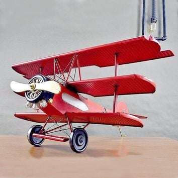 Large Scale Full-Iron Handmade Model Plane - Military German 1910s Red Baron Fokker Dr I  - 🎖️🇩🇪🦅✈️💣