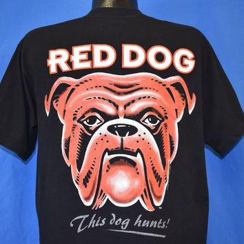 90s Red Dog Beer This Dog Hunts Miller Brewing t-shirt Large