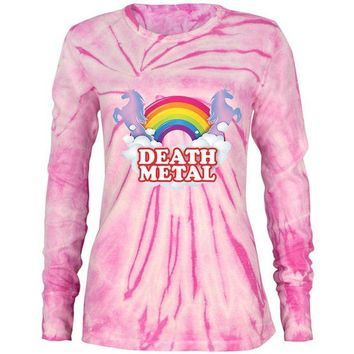 ONETOW Death Metal Rainbow Juniors Long Sleeve Thermal Shirt
