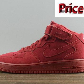 sneaker ties Nike Air Force 1 Mid Red October Gym Red Gym Red-White Mens Skate Sneaker 315123-609 shoes