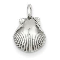 14k White Gold Seashell Pendant K1901