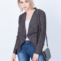 Take Me Out Suede Jacket