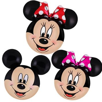Mickey Minnie balloons Large Giant 112cm Big Red Bowknot standing mouse Airwalker Balloons for Birthday Party Decorations Kids
